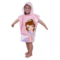 Poncho de bain avec capuche Princesse Sofia