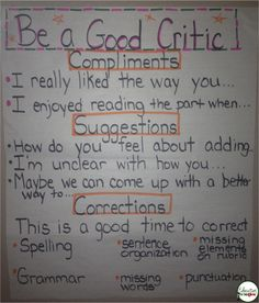 This is a good resource for students to use when doing peer editing. This guides student to make peer editing a beneficial and useful thing in the classroom.