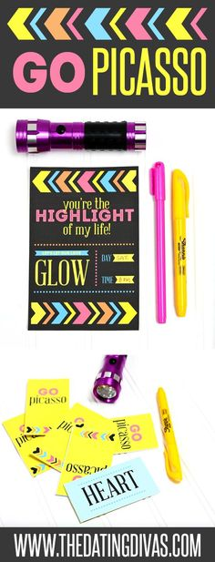 SEXY DATE NIGHT! Fun glow-in-the-dark ideas for an intimate night in the bedroom! Diva Light, Date Night Games, Date Night Ideas For Married Couples, Romance Tips, Couple Activities, Day Glow, Sexy Gifts, Diy Shops, Dating Divas