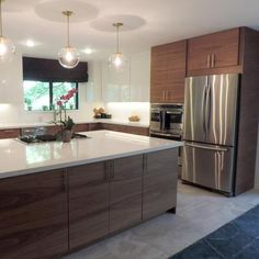 Walnut Kitchen Cabinets – Elegant A Mid Century Modern Ikea Kitchen for A Gorgeous Light Filled Texas Ikea Kitchen Design, Modern Kitchen Cabinets, Kitchen Cabinet Design, Modern Kitchen Design, Kitchen Interior, New Kitchen, Kitchen Decor, Kitchen Ideas, Country Kitchen
