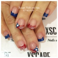 59 Ideas Nails Holiday Summer Of July For 2019 Sassy Nails, Red Nails, Cute Nails, Pretty Nails, Holiday Nail Designs, Holiday Nails, Patriotic Nails, Solar Nails, 4th Of July Nails