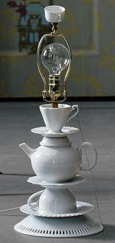 Teapot lamp base