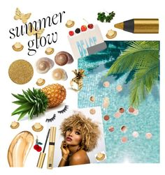 """""""Summer glow"""" by francesca-croci on Polyvore featuring beauty, Astley Clarke, Violet Voss, Bobbi Brown Cosmetics, Urban Decay, Umbra, Estée Lauder, Tom Ford, Ann Taylor and Anya Hindmarch"""