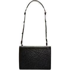 Helmut Lang Black Calfskin Argon Shoulder Bag