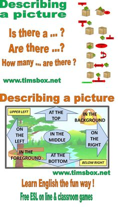 CLASSROOM GAMES- Describing a picture - Vocabulary Help (Utile pour BLIND 7DIFFERENCES, DRAW MY FLAT, ....)