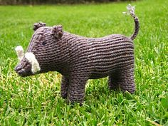 This listing is for my Frederick the Warthog Pattern. Frederick is knitted in a worsted yarn on 3mm needles. The pattern is knitted flat and in one piece, the only extra knitted pieces are for his tail, ears and tusks.