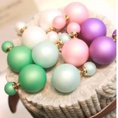 Cheap earring wood, Buy Quality earrings spike directly from China earring set Suppliers: 22 colors Hot Selling 2015 women Genuine Brand Double Side matte Pearl Stud Earrings Big wholesale christmas 2 cd bead Cheap Earrings, Big Earrings, Pearl Stud Earrings, Statement Earrings, Double Earrings, Fashion Jewelry, Women Jewelry, Cute Charms, Kugel