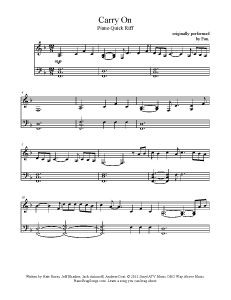 Carry On - Fun. Find more free sheet music at www.PianoBragSongs.com.