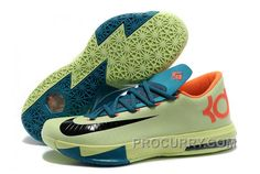new styles 1ea08 202d6 Nike Kevin Durant KD 6 VI Aqua Green-Orange Teal-Navy For Sale New Arrival