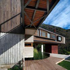 haus am hang moderne minimalistische architektur bauplan   garten, Garten Ideen