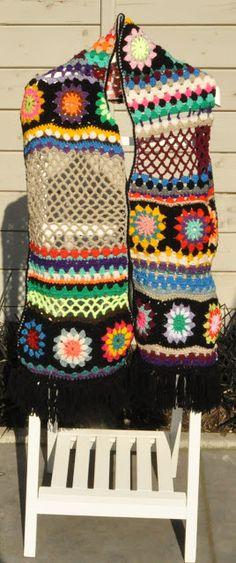 crochet scarf retro haken das