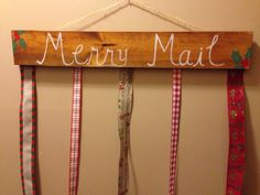 Merry Mail Christmas Card Display / Hanger / by AdorablyPractical