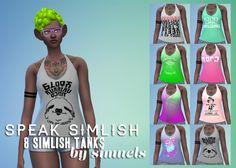 Simlish Tank Tops by Simnels