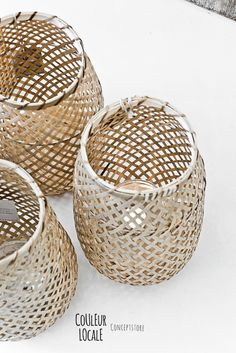 Woven Basket lights CONCEPT STORE COULEUR LOCALE IN KNOKKE, BELGIUM
