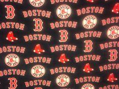 Boston Red Sox Single Sided Fleece Blanket by AuntShellDesigns
