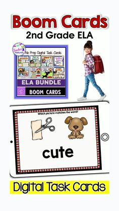 This 2nd grade deck of 190 digital Boom Cards helps students master grammar and literacy skills, such as open and closed syllables, plural nouns, silent e words, plural word endings, fact vs. opinion, and even proofreading sentences for punctuation errors. No prep! No printing, laminating, or cutting! #boomcards #boomlearning #2nd grade #boomcards2ndgrade #grammaractivities #TeacherFeatures #phonicslessons #ELA #grammaractivities 2nd Grade Ela, 2nd Grade Classroom, Second Grade, Grammar Activities, Teaching Resources, Teaching Ideas, Interactive Learning, Kids Learning, Google Classroom