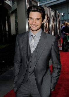 Ben Barnes. I love a man with neat, long hair in a well tailored suit.