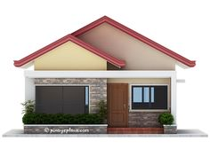 Having your own house is one of every Filipino family's dream. Pinoy eplans is featuring a single storey house plan that can be built in a lot with 10 meters frontage and minimum lo… My House Plans, Modern House Plans, Small House Plans, Small Bungalow, Modern Bungalow House, Kerala House Design, Small House Design, Bungalow Floor Plans, One Storey House