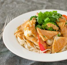 Tofu and Noodles with Peanut Sauce