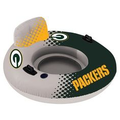 ed91ff384075c Green Bay Packers Relaxing Ring Inner Tube Inflatable Float - Green Gold