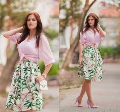 Get this look: http://lb.nu/look/7782250  More looks by Viktoriya Sener: http://lb.nu/viktoriyasener  Items in this look:  Romwe Blouse, Wholesalebuying Skirt, Cluse Watch, Asos Bag, Asos Heels   #chic #elegant #romantic