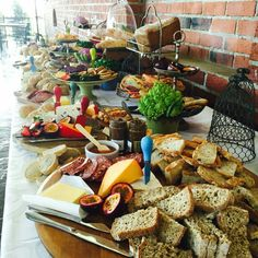 Bread table Wedding Venues, Table Settings, Dairy, Bread, Cheese, Food, Wedding Reception Venues, Wedding Places, Table Top Decorations