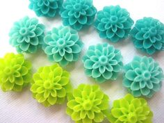 Magnet Set 12 pc Flower Magnets in by theindoorgardenshop on Etsy, $10.00