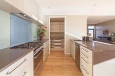 Tewa galley kitchen with spacious scullery...