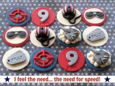 Top Gun Cupcake Toppers by Lynlee's Petite Cakes, via Flickr