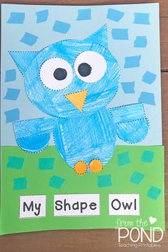 My Shape Owl & Paper Craft Techniques - Let us help you improve your classroom craft time. We've got several tips and tricks to teach your students specific techniques - Drawing Patterns, Paper Tearing, Paper Chipping, Fringing, Pleating, Paper Rolling, Twisting, & Tufting. Take a look at our demonstrations. | #FromThePond #PaperCraftTechniques #DrawingPatterns #PaperTearing #PaperChipping #Fringing #Pleating #PaperRolling #Twisting #Tufting #TeacherTips #PaperCrafts Rhyming Activities, Animal Activities, Kindergarten Activities, Classroom Activities, Early Years Classroom, Primary Classroom, Classroom Art Projects, Art Classroom, Owl Crafts