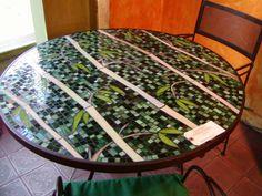 Bamboo Mosaic Table