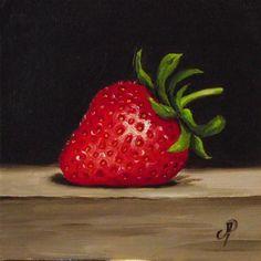 """""""Strawberry No. 2"""" - Original Fine Art for Sale - © Jane Palmer"""