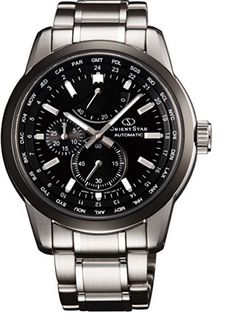 Orient Star Automatic WZ0011JC Black Dial Stainless Steel World Time Men's Watch