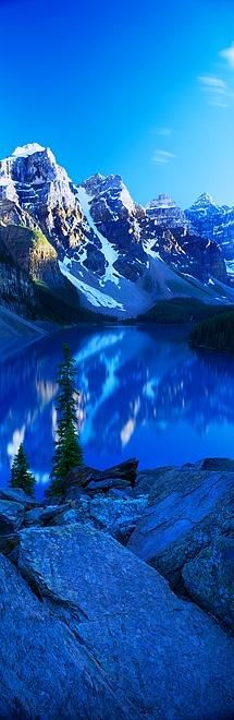 Moraine Lake, Canada.I want to go see this place one day.Please check out my website thanks. www.photopix.co.nz