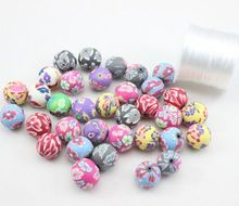 Colorido Chunky Gumball Bubblegum Beads com corda para colar Chunky fazer(China (Mainland))