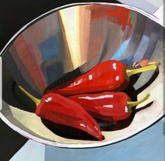 Fiesta by Lori Mehta Simple Oil Painting, Fruit Painting, Simple Acrylic Paintings, Acrylic Painting Techniques, Easy Paintings, Light Painting, Watercolor Paintings, Motif Simple, Simple Art
