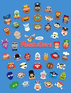 animal masks, printable masks, animal masks for kids,