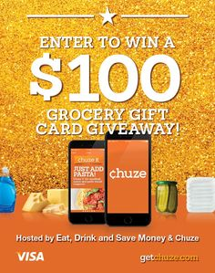 Do you love saving money with apps? If so, you'll love Chuze, a different spin on a money saving coupon app.  Win $100 to go Grocery Shopping with Chuze! http://eatdrinkandsavemoney.com/2017/03/16/win-100-to-go-grocery-shopping-with-chuze/