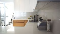 Modern Kitchen Design, Modern Design, Bath Caddy, Kitchen Cabinets, Home Decor, Restaining Kitchen Cabinets, Homemade Home Decor, Contemporary Design, Kitchen Base Cabinets