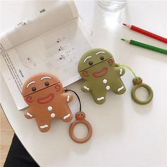 gingerbread Man AirPods Case Cover on Mercari Christmas Gingerbread Men, Christmas Ornaments, King Size Bed Linen, Cute Headphones, Air Pods, Round Design, Airpod Case, Are You Happy, Ipad