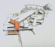 101 Home-Pläne: 10 Home-Design-Lösungen Solutions Intersecting Volume . Concept Models Architecture, Architecture Concept Diagram, Architecture Presentation Board, Architecture Sketchbook, Futuristic Architecture, Facade Architecture, Sustainable Architecture, Contemporary Architecture, Home Design