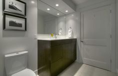 Gorgeous contemporary bathroom. Sleek and Clean.