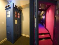 TARDIS home cinema!  It's bigger on the inside!  :)