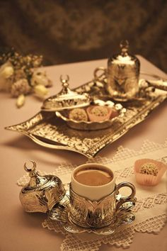 Valentine's Day * Authentic Ottoman Coffee - Espresso Set - Turkish Coffee Set