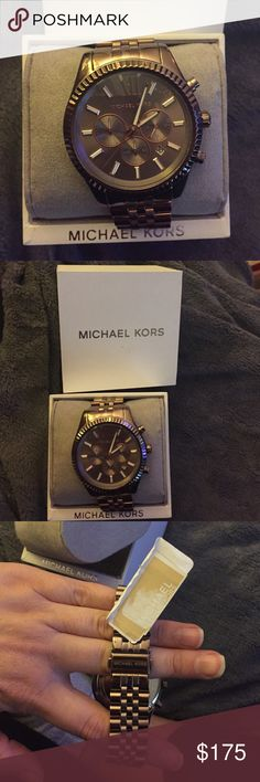 Brand new women's Michael Kors wristwatch Beautiful, brand new with tags, never worn, ladies Michael Kors sable wristwatch. Beautiful design, scratch free, with box & operation manual. Working battery. Bought for a gift but chose a different watch so selling this one. Michael Kors Accessories Watches
