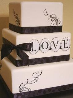 Torta de casamiento en blanco y negro