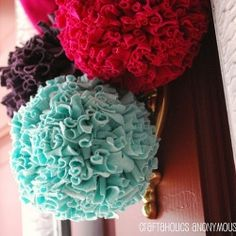 pom poms from a tshirt