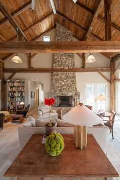 Riverbend Barn Home | Heritage Restorations This has a rustic feel but I love the high ceilings