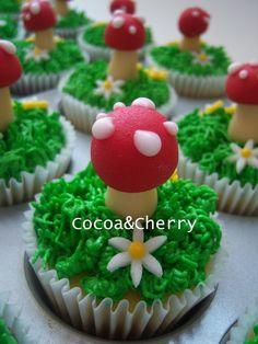 Smurfs Mushroom Cupcakes