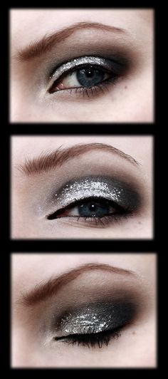 Black and silver prom makeup by ~aurelia87 on deviantART